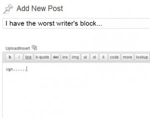 what to blog about writers block